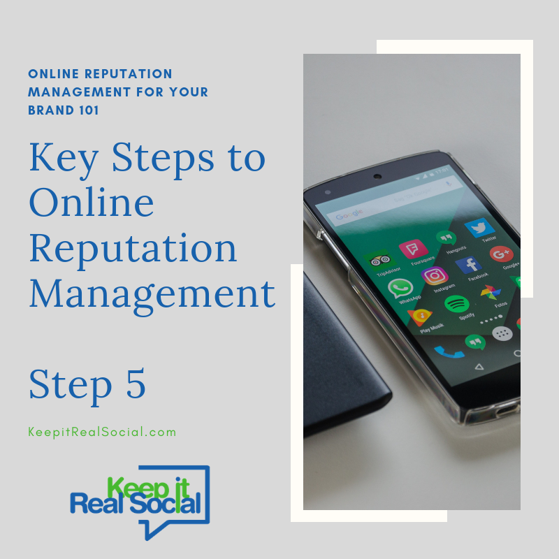 Key Steps to Online Reputation Management- Step 5 Start Building