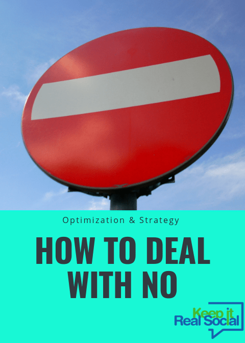 How to deal with NO on linkedin