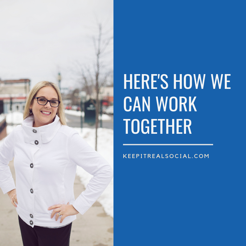 Keep it Real Social for social media marketing, optimization, and training. Located in Petoskey, Michigan but working wherever there's a strong WIFI connection.