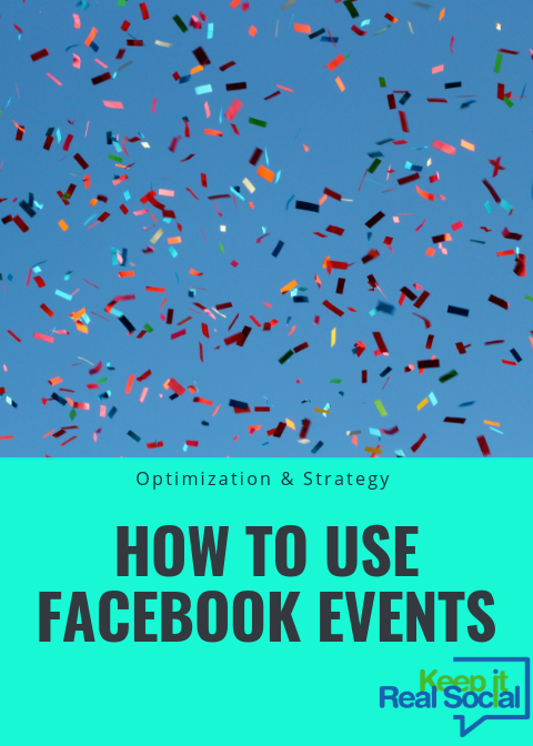 How to use Facebook events