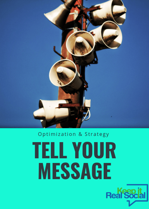 Tell your message on Facebook