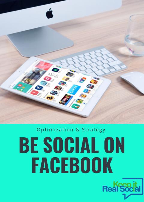 be social onFacebook