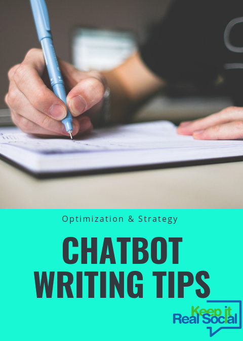 chatbot writing tips