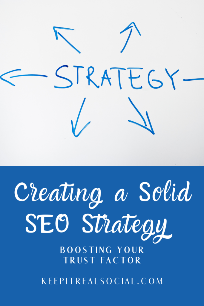 Creating a Solid SEO Strategy and boosting your trust factor and ranking.