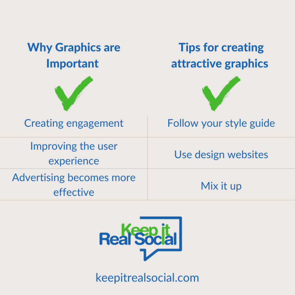 Best practices for using graphics on social media