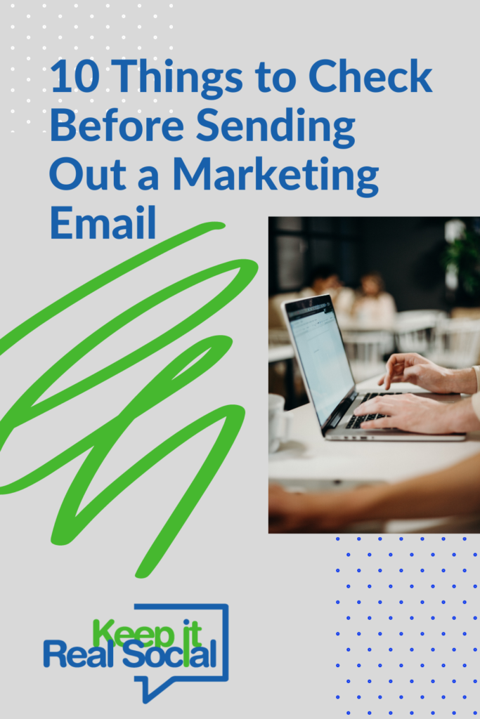 10 Things to Check Before Sending Out a Marketing Email