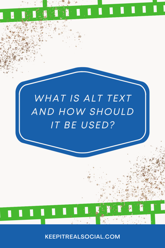What is Alt Text and How Should it be used?