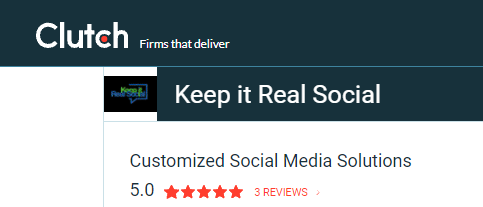 Keep It Real Social is a Five-Star Company on Clutch